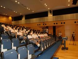 福岡市立福翔高等学校での特別授業